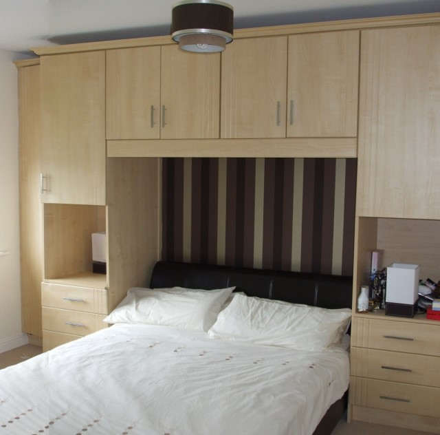 Fitted Bedroom Wardrobes with Built In Bedside Lockers