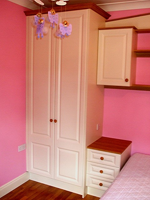 Ivory White Wardrobe with Bedside Locker