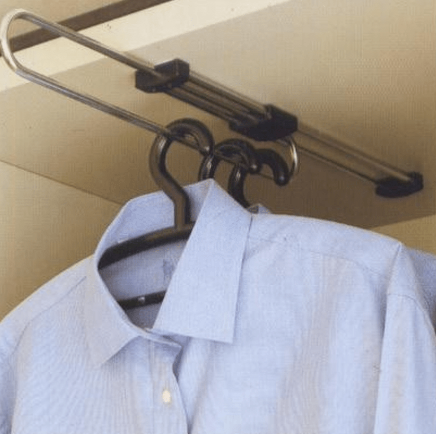 Internal Wardrobe Pull Out Hanging Rail