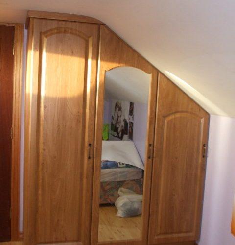 Angled Door Wardrobes in Dormer Bedroom